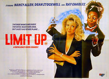 LIMIT UP 1989 Nancy Allen Dean Stockwell Ray Charles UK QUAD POSTER