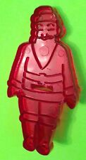 VINTAGE SANTA COOKIE CUTTER   GREAT CONDITION RED PLASTIC
