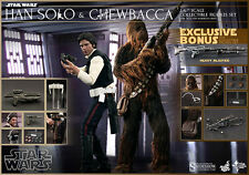 HOT TOYS STAR WARS EPISODE IV HAN SOLO AND CHEWBACCA 1:6 FIGURE SET ~Sealed~