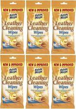 6 x toallitas de limpieza de cuero mágico de tela de 24 protege a todos los tipos de cueros, nuevo