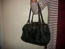 Women's Black Leather Hand Bag (APT. 9) Multi-Pocket UEC