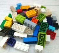 40 x Lego Bricks, Mixed Colour AND Size 2x2, 2x3, 2x4 & bigger #3003 #3002 #3001