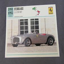 629C Edito Service Fiche Dépliant Ferrari 212 Export