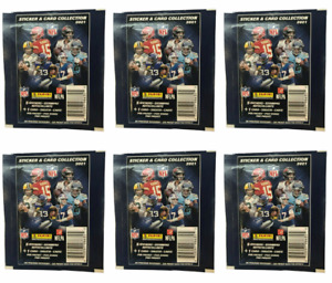 Lot of (6) New Sealed 2021 NFL Panini Sticker And Card Collection Packs