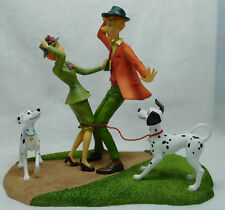 Extremely Rare! Walt Disney 101 Dalmations Meeting Figurine Statue
