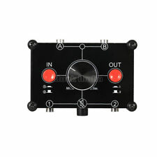 LB MC22 Stereo 2-in-2-out A/B 3.5mm Selector Passive Preamp Switcher Splitter