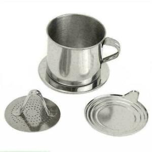 Steel Vietnamese Coffee Drip Press For Office X3K1 M W6S0 Cup R5I0