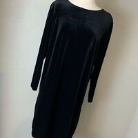Susan Graver Style Black Velour Dress, Size 1X