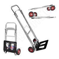 New Folding Hand Cart Foldable Trolley Barrow Sack Truck Aluminium Heavy Duty