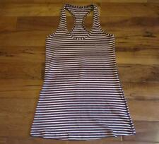 LULULEMON RACERBACK TANK west2east stripe heathered bordeaux drama white SIZE 6