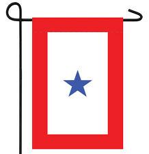 "BLUE STAR SERVICE BANNER GARDEN BANNER/FLAG 12""X18"" SLEEVED POLY"