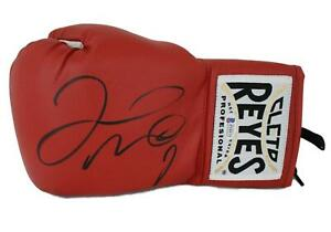 Floyd Mayweather Jr Signed Cleto Reyes Red Left Hand Boxing Glove BAS 24967