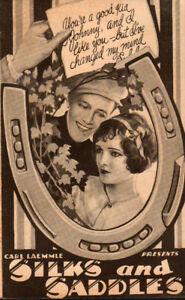 Silks and Saddles Original Movie Herald from the 1929 Movie