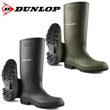 UNISEX DUNLOP WELLINGTONS BOOTS WELLIES WATERPROOF SNOW RAIN RUBBER WORK SHOES