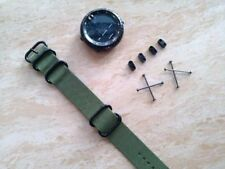 ForFor Suunto Core Watch Band Nylon Zulu Strap 5-Ring w/ Lugs Adapters PVD kit 3