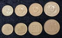 YUGOSLAVIA SET 4 COINS 10 20 50 100 DINARA 1988 1989 UNC