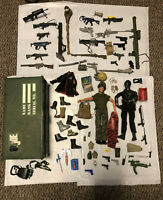 Vintage and 2000s Gi Joe Guns An Collectables 2 12'' Figures With Lots Of Extras