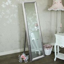 Free Standing Wall Floor Long Silver Cheval Full Length Bedroom Dressing Mirror
