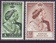 British Honduras 1948 SC 129-130 MNH Set Silver Wedding