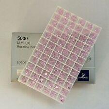 Genuine Swarovski® Crystal - 8mm Rounds #5000 - ROSALINE - 72 PC. TRAY