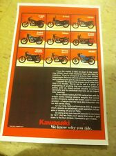 Vintage Kawasaki Kz400 Motorcycle Advertisement Poster Home Decor Man Cave Gift