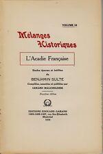 L'ACADIE FRANCAISE BENJAMIN SULTE MELANGES HISTORIQUES VOL. 16