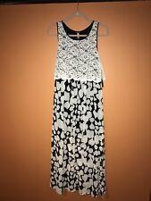 f8bf5ad21 NWT KENSIE Black/White Printed Sleeveless Scoop Neck Maxi Dress - size M