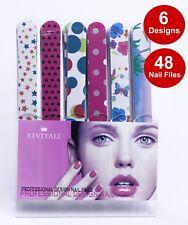 Revitale Professional Salon Nail Files, Shop Display 48 Nail Files 6 Designs