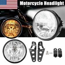 Universal 7inch Motorcycle Headlight LED Turn Signal Indicators With Bracket US
