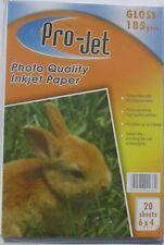 PROJET high quality gloss inkjet photo paper 6x4 pack of 50 sheets