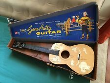 1950s GENE AUTRY Guitar w/Case EMENEE Vintage America Western Singing Cowboy Toy