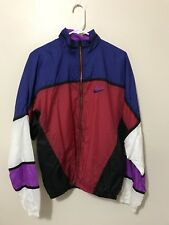 Men's Size M Vintage Nike Color Block Jacket Swoosh Spell Out Windbreaker