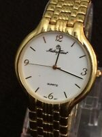 mathey-tissot Men's Watch 36 Mm Case White Face Black Dial,Stainless Steel Band