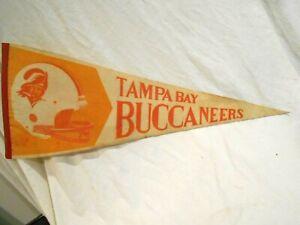 """Vintage 1970's Tampa Bay Buccaneers Pennant 29 1/2"""""""