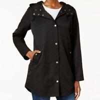 Style & Co. Black Hooded Anorak Utility Jacket Plus 2XL