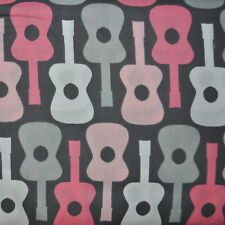 Bloom Groovy Guitar for Michael Miller, 1/2 yard cotton fabric