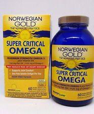 Norwegian Gold Super Critical OMEGA-3 + Vitamin D3  - 60 softgels