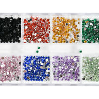 Nail Art Rhinestones Glitters 1200pcs Acrylic Tips Decoration Manicure Wheel