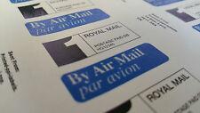 1000 ROYAL MAIL 1st PPI Labels & Return Address OLA AIRMAIL PAR AVION