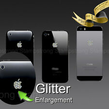 ( 4x ) Apple Logo Glitter Sticker Decal for iPhone 3 4 5 5s