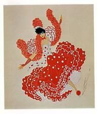 "VINTAGE Erte Art Deco Print ""CAN-CAN BAL TABARIN"""