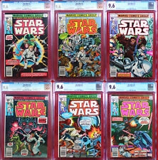 STAR WARS #1-6 : A NEW HOPE Marvel 1977 Movie Adaptation ALL graded CGC 9.6 NM+