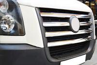 EDELSTAHL KÜHLERGRILL LEISTEN CHROM für VW CRAFTER I VOR-FACELIFT | BJ 2006-2011