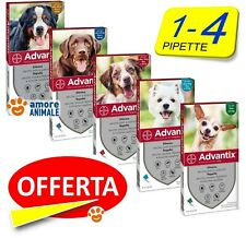 Advantix Bayer 1 e 4 pipette per Cani da 0-4 / 4-10 / 10-25 / 25-40 / 40-60 kg