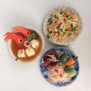Thai Fake Food Miniature Dollhouse Thai Signature Food ( Pack of 3 )