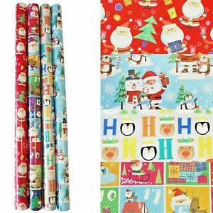 Christmas Wrapping Paper 32m ( 4 x 8m)  Gift Wrap Rolls - Cute Designs gw126