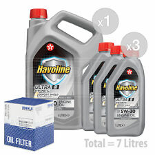 Engine Oil and Filter Service Kit 7 LITRES Texaco Havoline Ultra R 5w-30 7L