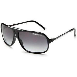 Carrera Cool/S Pilot Sunglasses, Black and White Frame/Grey Gradient Lens, 68 mm