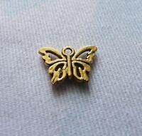 10Pcs Butterfly Charms for Necklaces Pendant Bracelet Supplies Gold/Silver Tone
