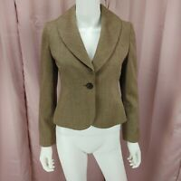 LOFT Ann Taylor Petites Women's Wool Tan Long Sleeve Blazer Jacket Size 0P